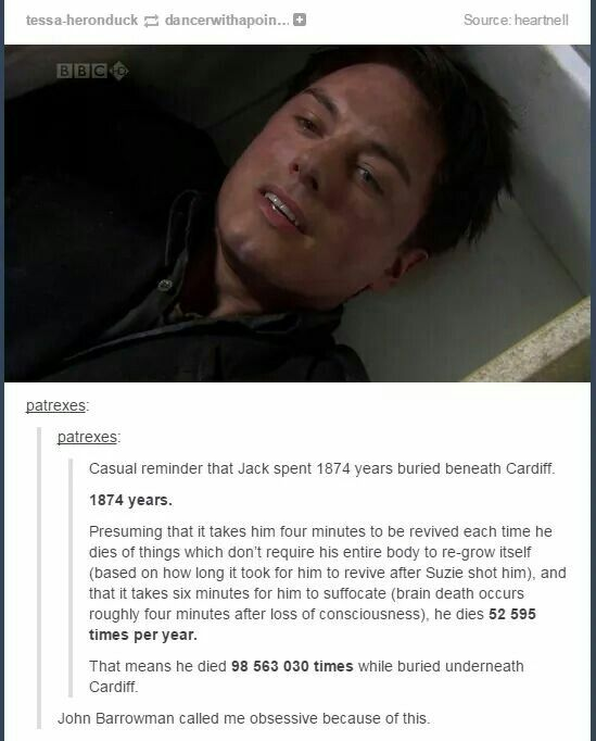 This person is amazing, and it's hilarious that Barrowman called her obsessive!!