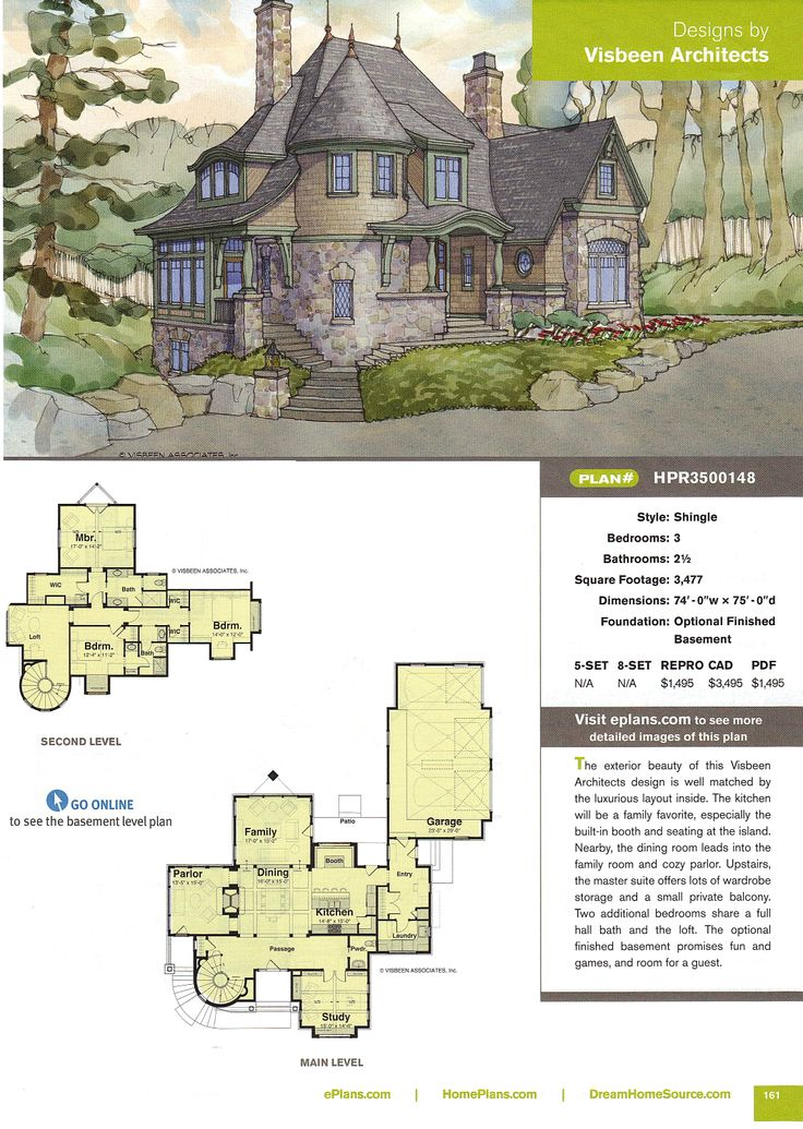 61 best cottage plans layouts images on pinterest home for Visbeen house plans