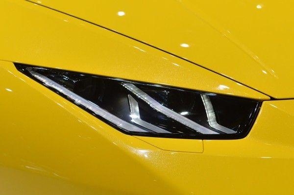 2015 Lamborghini Huracan LP 610-4 in Auto Show front light