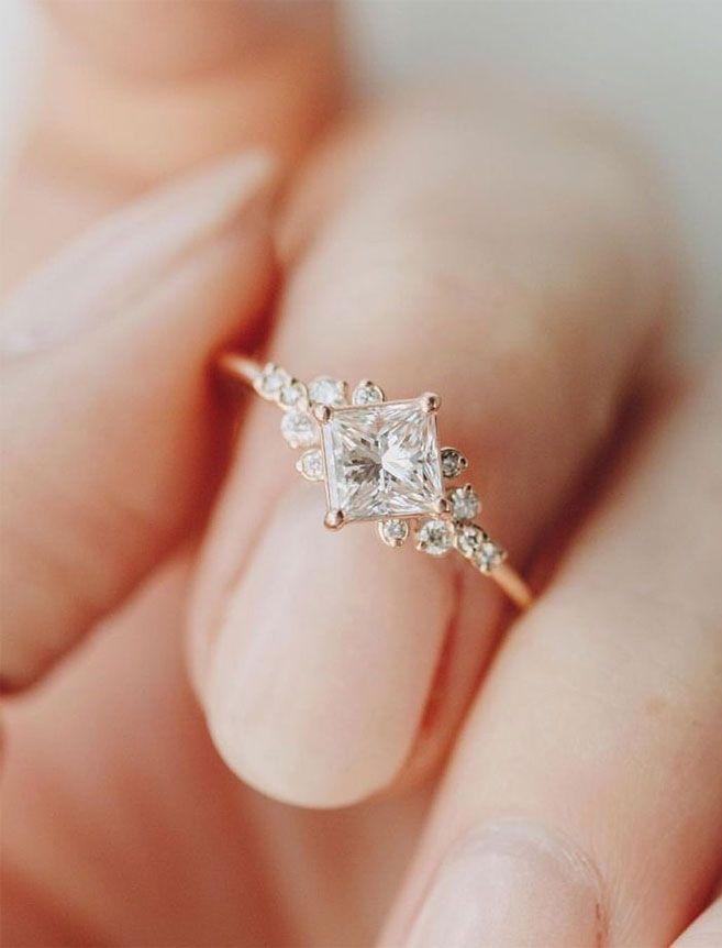 75 خاتم خطوبة فريد من نوعه مع سحر ساحر Dream Engagement Rings Diamond Wedding Bands Aquamarine Engagement Ring