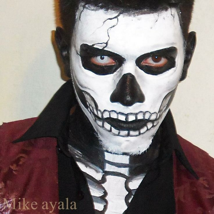 Maquillaje calavera d a de muertos hombre mike ayala mike creations pinterest maquillaje - Maquillage dia de los muertos ...