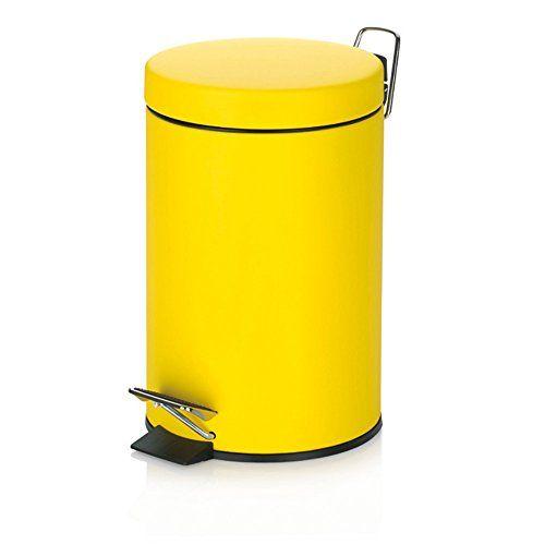 "Kela ""Sole"" Cosmetic Bin, Metal, Yellow, 3 Litre Kela https://www.amazon.co.uk/dp/B00HODZQMI/ref=cm_sw_r_pi_dp_x_pKmfzbKC1XTFX"