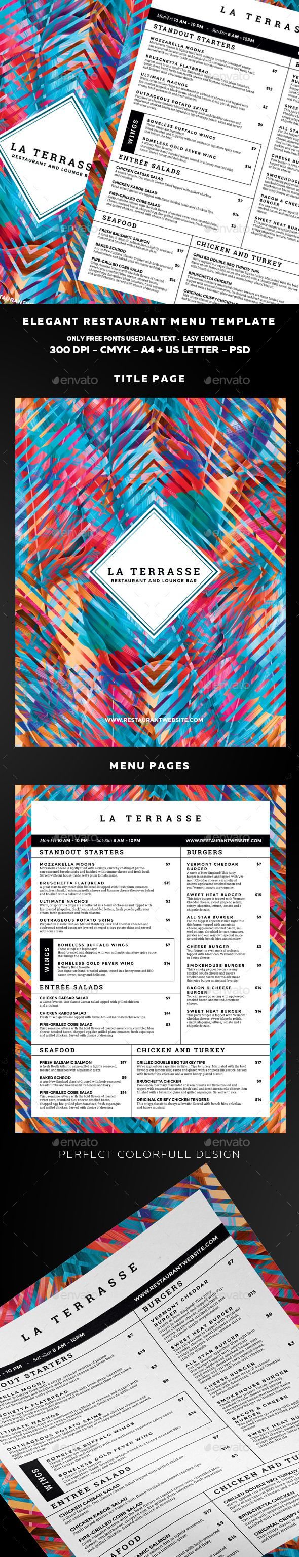 Food Menu 339 best print template images