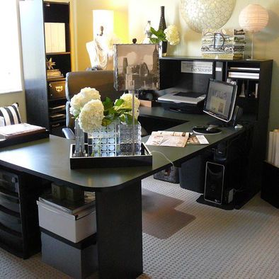 Creative Professional Office Decorating Ideas Transitional Home Office Cubicles