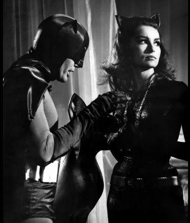 """Batman"" Adam West and ""Catwoman"" Julie Newmar, ABC 1966"