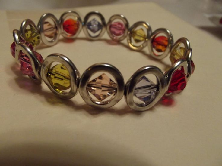 Crystal and Silver Bracelet by Jewelryonthego
