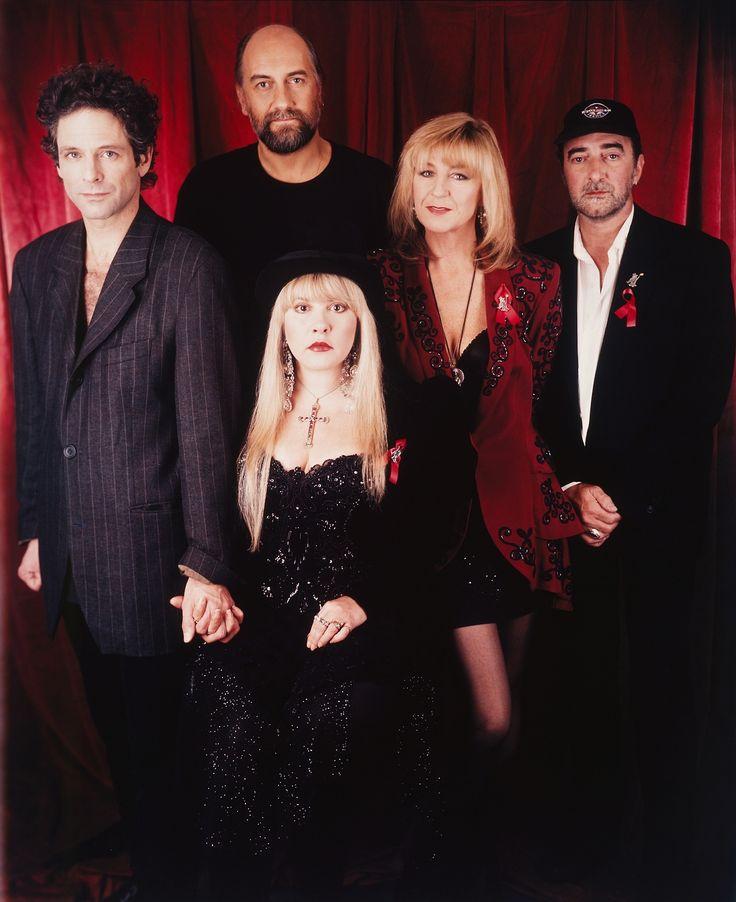 """Fleetwood Mac photographed at the Clinton Inauguration Gala - 1993. """