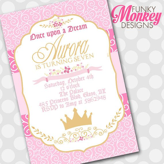 25 best ideas about Princess aurora party – Sleeping Beauty Party Invitations