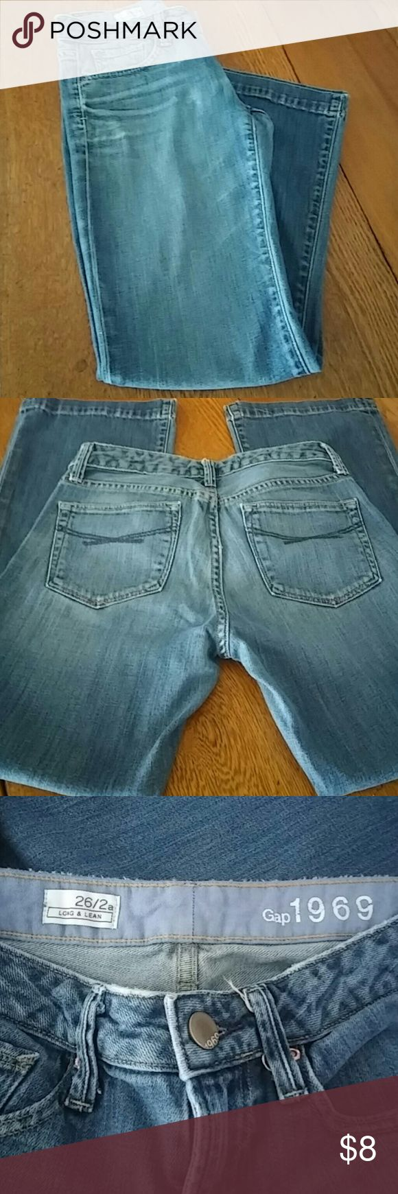 "Gap 1969 Jeans Gap 26/2a Long and Lean Jeans. Gap 1969. Gently used. 27"" inseam GAP Jeans Boot Cut"