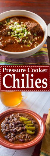 Pressure Cooker Chilies                                                                                                                                                                                 More