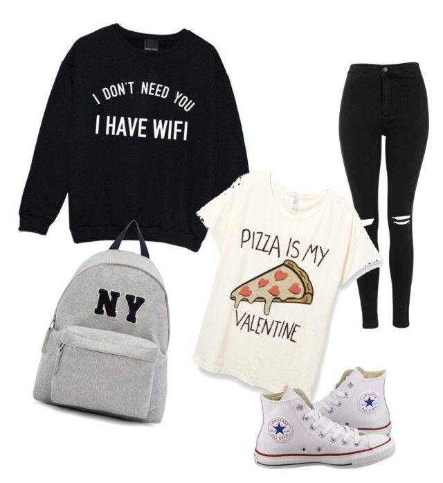 """""""My Valentine's Day"""" by tohot4u on Polyvore featuring Topshop, Converse and Joshua's"""