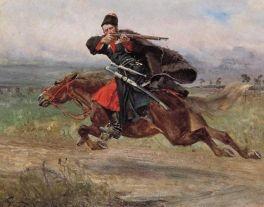 """""""Czerkies w galopie""""- Wojciech Kossak"""