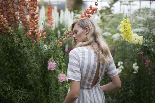 Celine Rita NZ Designer Stripe Jumpsuit Culottes Auckland Wintergardens