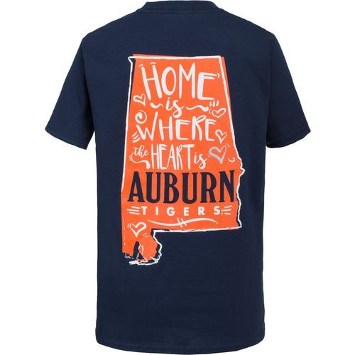 New World Graphics Girls' Auburn University Where the Heart Is T-shirt (Navy, Size X Large) - NCAA Licensed Product, NCAA Youth Apparel at Academy ...