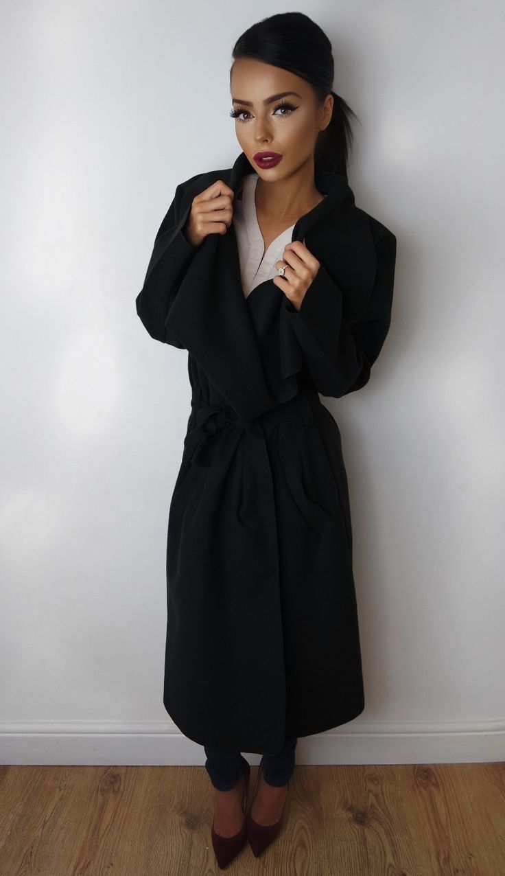 The 25  best Black waterfall coat ideas on Pinterest | Waterfall ...