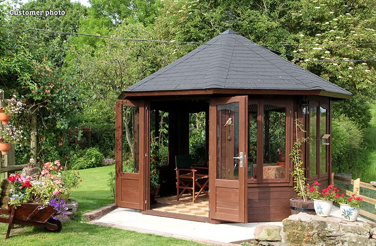octagonal garden pavilion with a classic style from