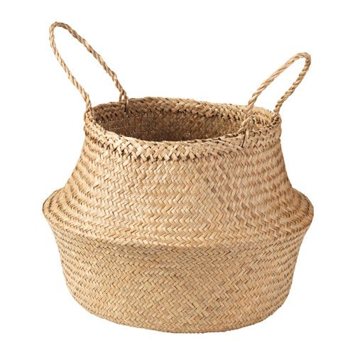 IKEA - FLÅDIS, Basket, You can choose how you want to use this basket – turned up with handles or turned down to display the contents.Storing your belongings in baskets makes it easier to be organized and find what you're looking for.Each basket is woven by hand and is therefore unique.