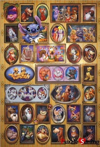 """Jigsaw Puzzles 1000 Pieces """"Disney's Animal Collection"""" / Disney / Tenyo....cute!  looks like a fun one to do with the grandkids....they love puzzles too, and DISNEY!"""