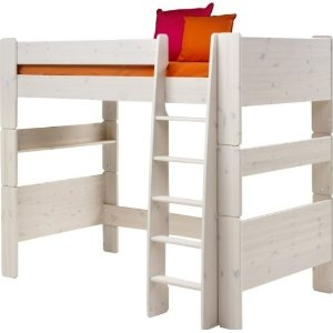 CHILDREN'S WHITE HIGH SLEEPER BED FRAME KIDS BED WITH PLAY SPACE UNDERNEATH FROM CENTURION PINE: Amazon.co.uk: Kitchen & Home
