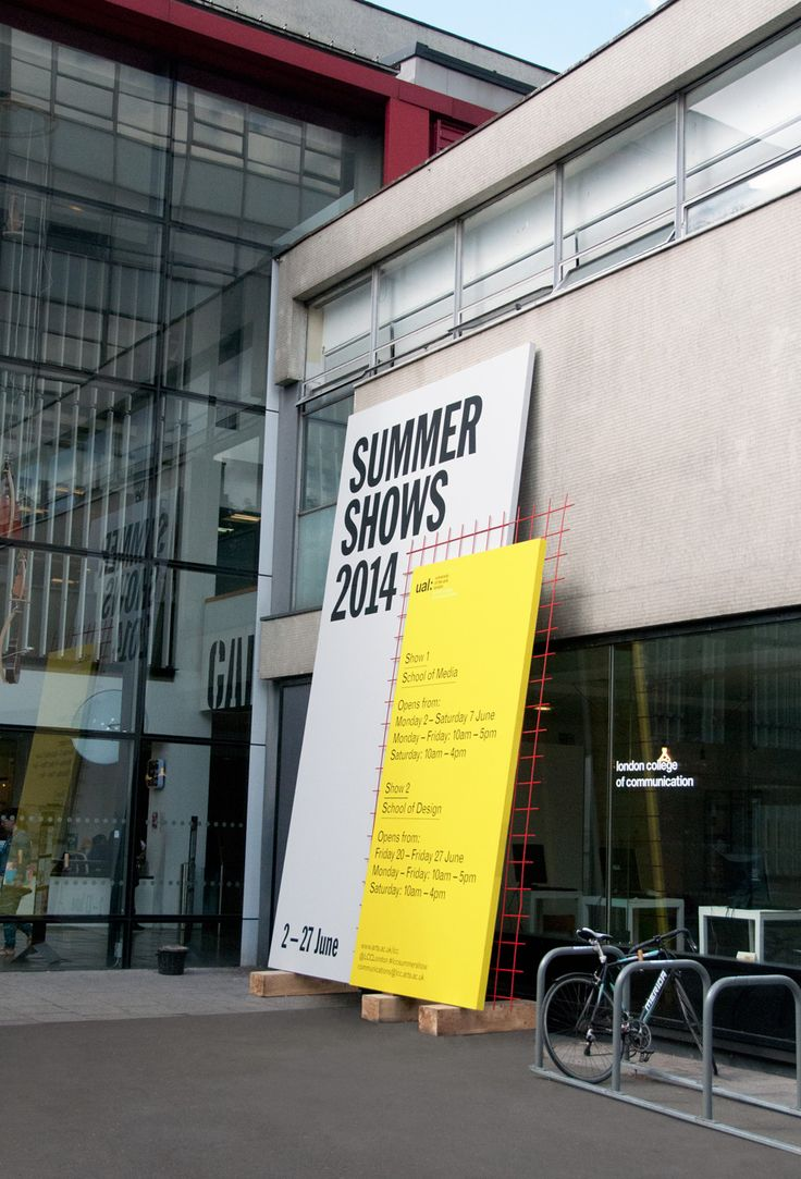 Branding and exhibition design for the Summer Shows 2014, at the London College of Communication  Shaz Madani