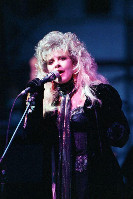 Stevie Nicks, Fleetwood Mac at the Kalkberg Arena in Bad Segeberg, West Germany - May 31, 1988.