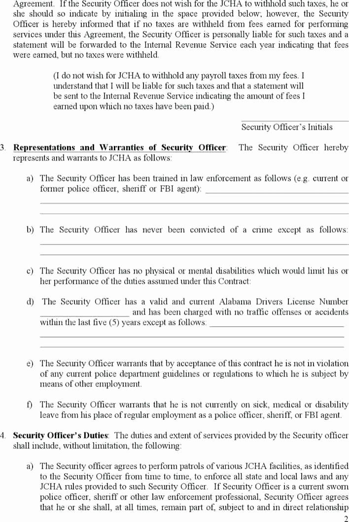 Security Guard Contract Template Luxury Security Guard Contract Agreement Template Beautiful Contract Template Treatment Plan Template Sales Strategy Template