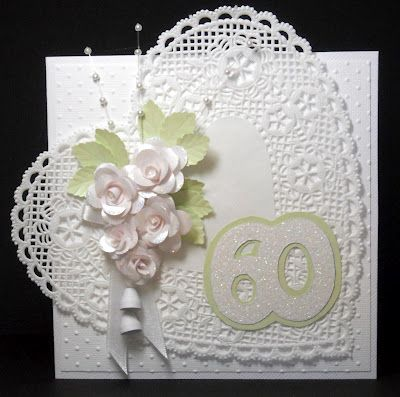 From Em's Paperdaze: Diamond Anniversary (60th) card