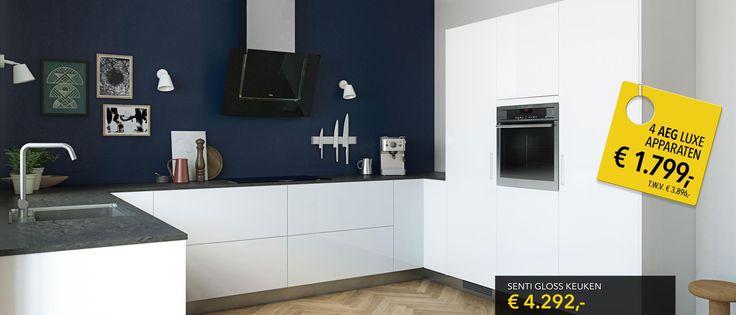 Als je nu een nieuwe Kvik keuken koopt, krijg je bijvoorbeeld een set van 4 AEG luxe apparaten voor slechts € 1.799...Meer informatie over de aanbieding.