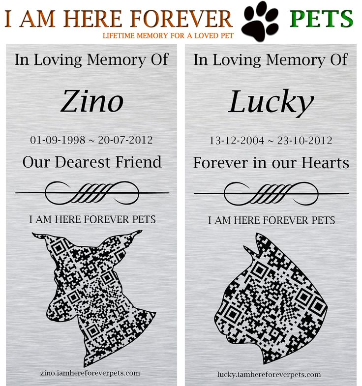 PROUD TO INTRODUCE and available as of today, we offer unique and in-house designed animal-shaped QR code plaques.  We can even work with the silhouette of your very own pet! With a quick scan of your QR-coded plaque, you can access your online Pet Memorial within seconds.  (https://www.facebook.com/IAMHEREFOREVERPETS). *** A portion of all our plaque proceeds, goes towards the RSPCA QLD, providing much needed funds for rescue pets.