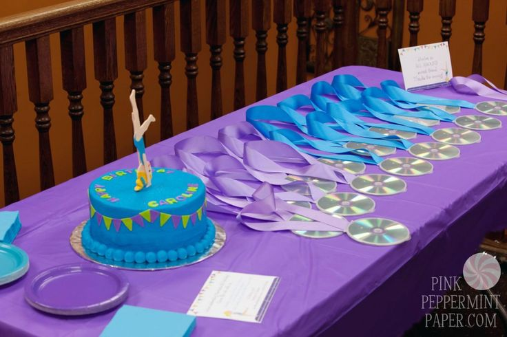 This Gymnastics Birthday Party from Pink Peppermint Paper is a unique and must-see party. Great ideas for favors, food, cake and decorations.
