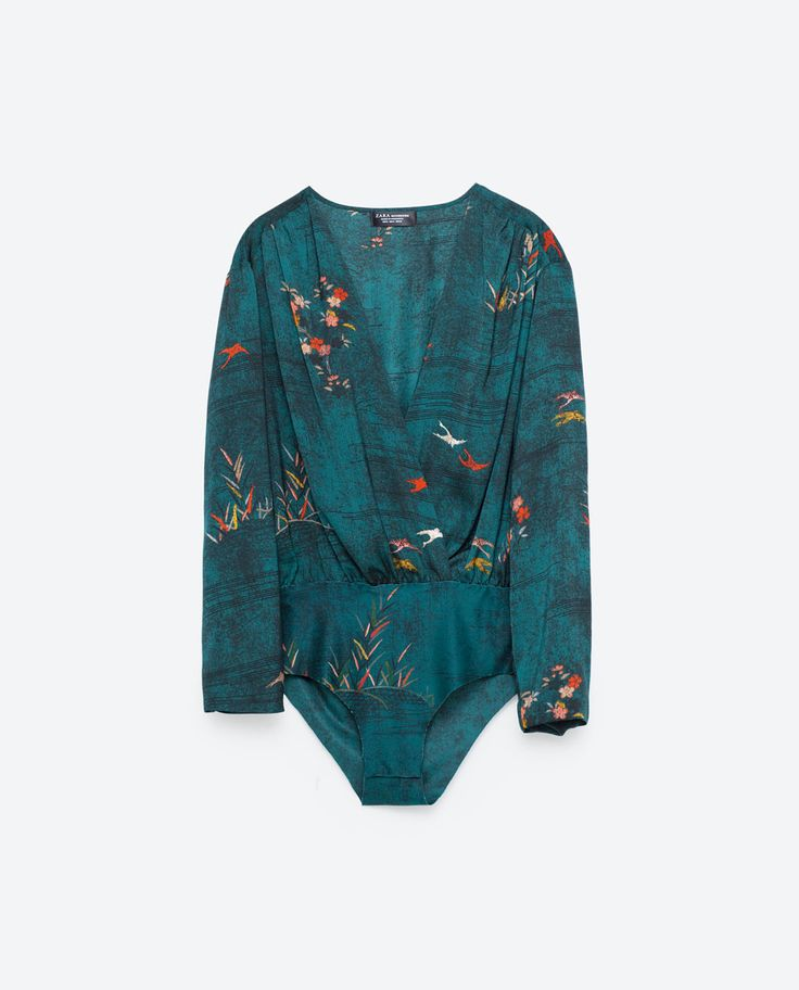 Image 8 of LONG SLEEVE PRINTED BODYSUIT from Zara