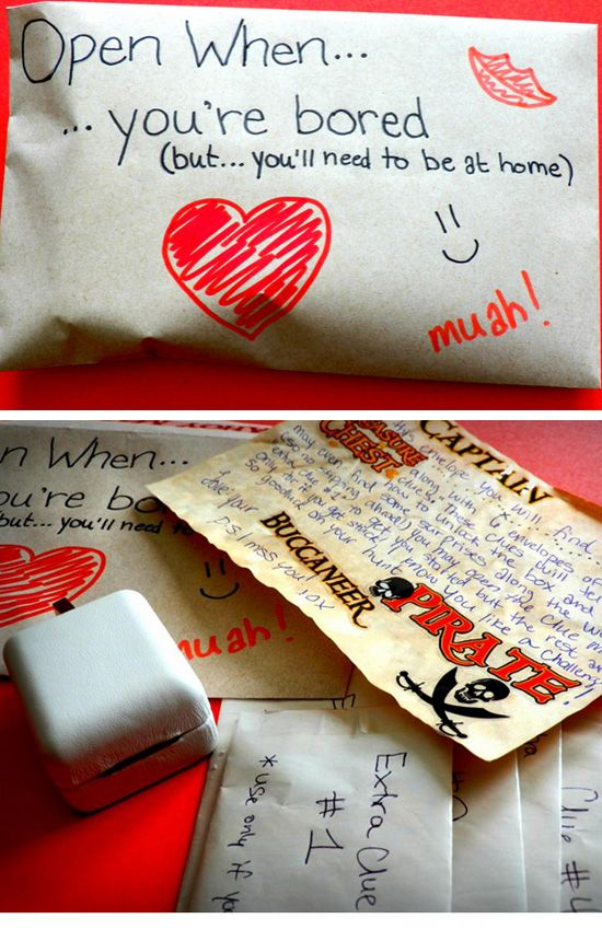 Romantic Scavenger Hunt | Click Pic for 44 DIY Valentine Gifts for Him | DIY Valentine Gifts for Boyfriend