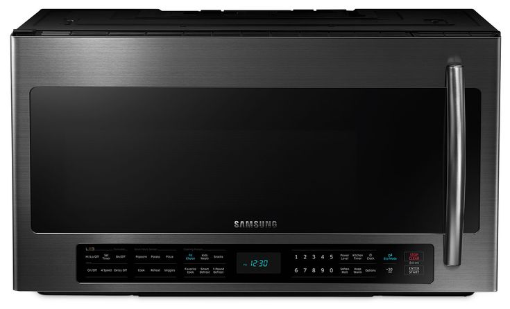 Samsung Black Stainless Steel Over-the-Range Microwave (2.1 Cu. Ft.) - ME21H706MQG/AC | Leon's