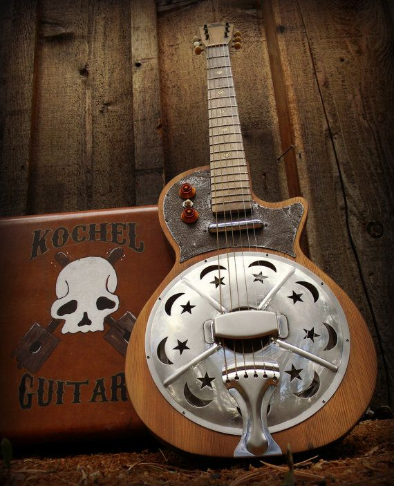 Kochel Guitars Resonator Guitar Electric Guitar by Kochel Guitar. Wow! This looks pretty cool!