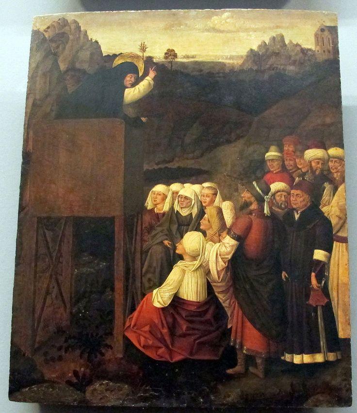 Colantonio, s. vincenzo ferrer e sue storie, 1460 ca., da s. pietro maggiore 04. Galleria Napoletana (Museo di Capodimonte).
