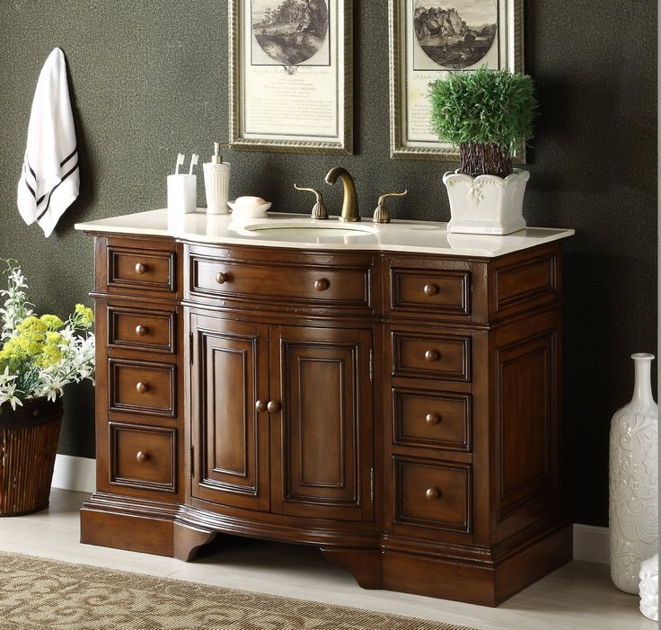 adelina 51 inch antique bathroom vanity fully assembled - Antique Bathroom Vanity