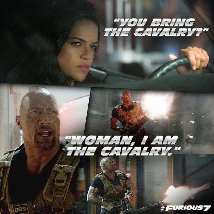 Furious 7 - Best line in that movie