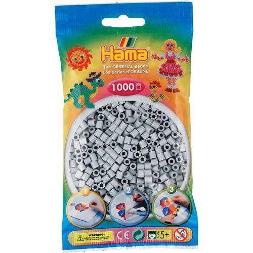 Hama 207-70 Strijkkralen 1000 Lichtgrijs