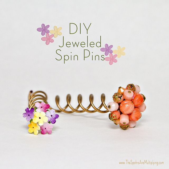Decorate Hair Spin Pins Idea and Tutorial - The Beading Gem's Journal
