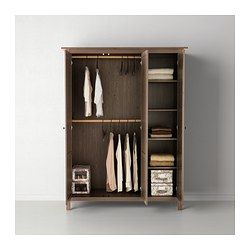 Good HEMNES Wardrobe With 3 Doors   Gray Brown   IKEA Gray Brown With White Bed