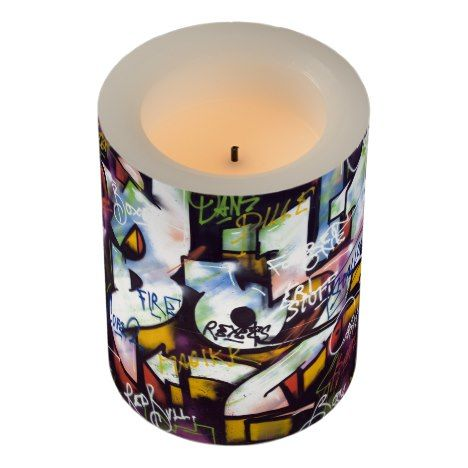 Live Upside Down Peace Sign Wall Flameless Candle