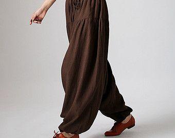 Linen Pants baggy pants maxi pants Beige pants womens