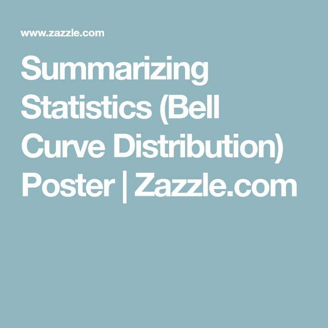 Summarizing Statistics (Bell Curve Distribution) Poster | Zazzle.com