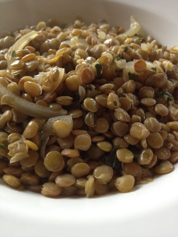 Delicious Lentils! - I'm always looking for new dishes that are easy and good for you.