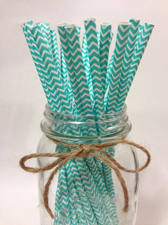 NOW in stock, Tifanny blue straws. https://www.etsy.com/listing/184108183/25-tiffany-blue-chevron-paper-straws