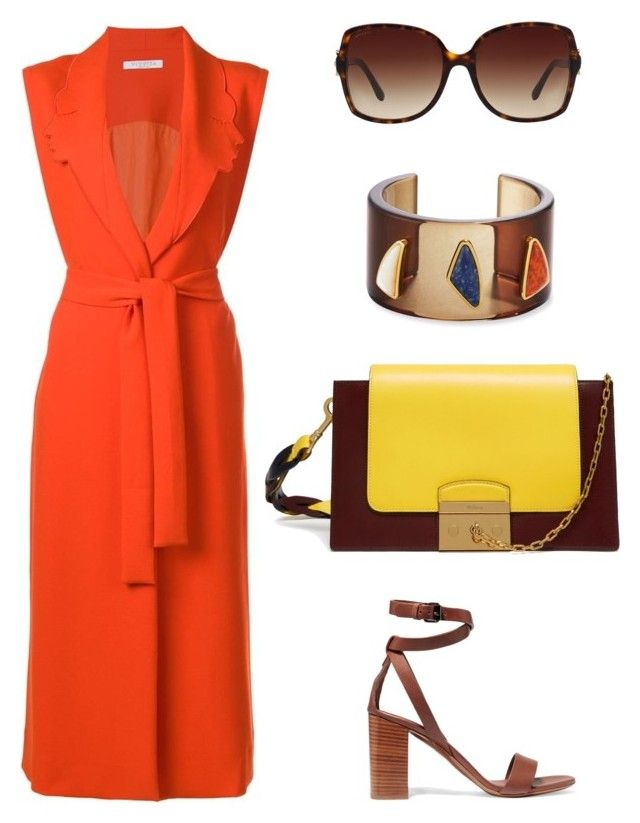 Сафари by shkolashopinga on Polyvore featuring мода, VIVETTA, Vince, Mulberry, Lizzie Fortunato and Bulgari