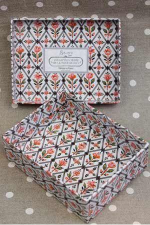 Storage Vintage style box - Marly Toile de Jouy  paper whitout tray