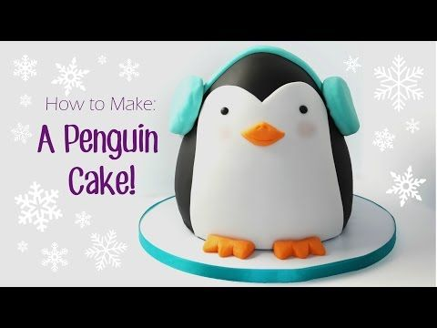 How to Make a Penguin Cake - YouTube