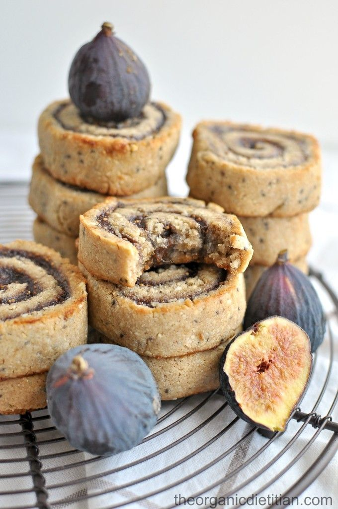 Cashew Flour Fig Pinwheel Cookies - The Organic Dietitian