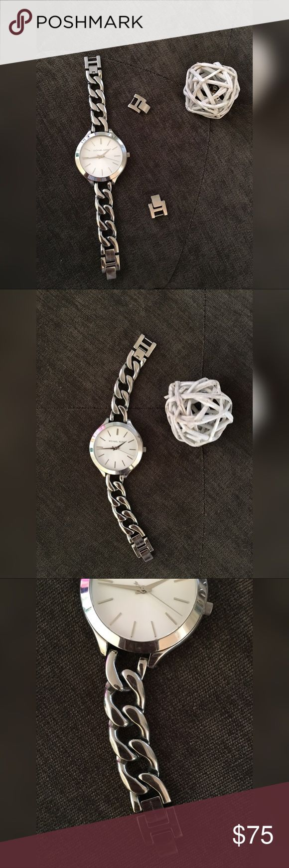 Michael Kors Silver Watch ✨Comes with additional links to expand ✨Needs new battery KORS Michael Kors Accessories Watches